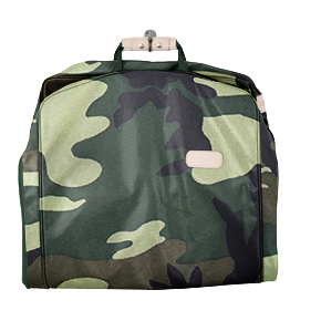 "50"" Garment Bag - Classic Camo Coated Canvas Front Angle in Color 'Classic Camo Coated Canvas'"
