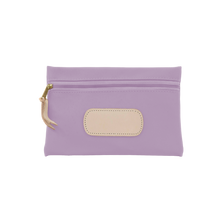 Load image into Gallery viewer, Pouch - Lilac Coated Canvas Front Angle in Color 'Lilac Coated Canvas'