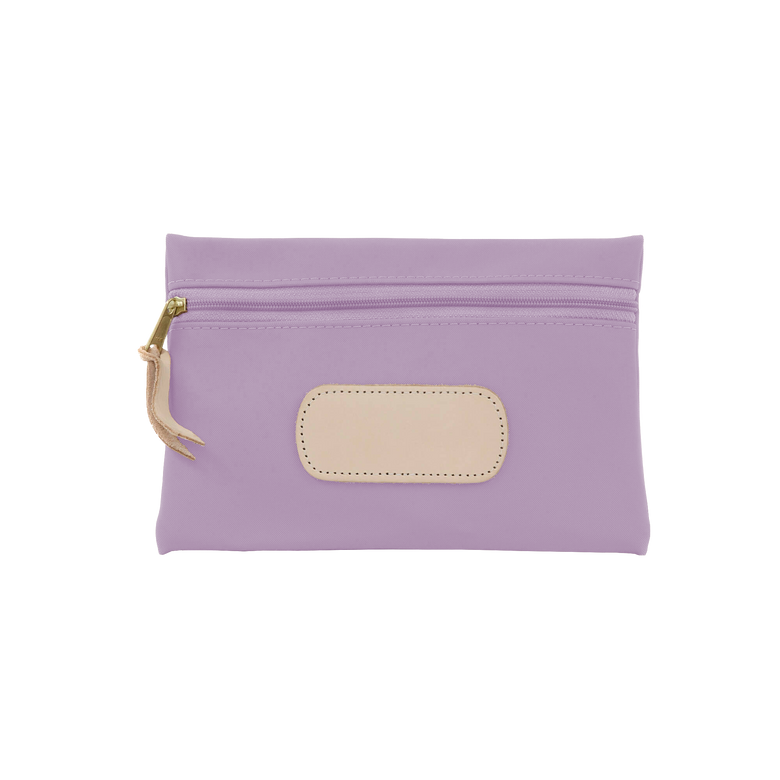 Pouch - Lilac Coated Canvas Front Angle in Color 'Lilac Coated Canvas'