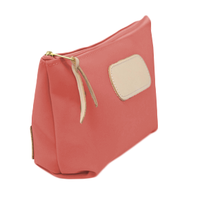 Grande - Coral Coated Canvas Front Angle in Color 'Coral Coated Canvas'