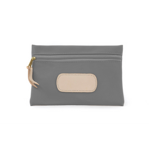 Pouch - Slate Coated Canvas Front Angle in Color 'Slate Coated Canvas'
