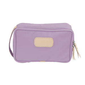 Small Travel Kit - Lilac Coated Canvas Front Angle in Color 'Lilac Coated Canvas'