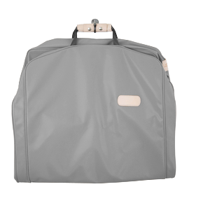 "50"" Garment Bag - Slate Coated Canvas Front Angle in Color 'Slate Coated Canvas'"