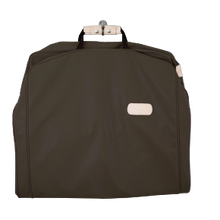 "Load image into Gallery viewer, 50"" Garment Bag - Espresso Coated Canvas Front Angle in Color 'Espresso Coated Canvas'"