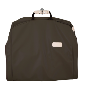 "50"" Garment Bag - Espresso Coated Canvas Front Angle in Color 'Espresso Coated Canvas'"