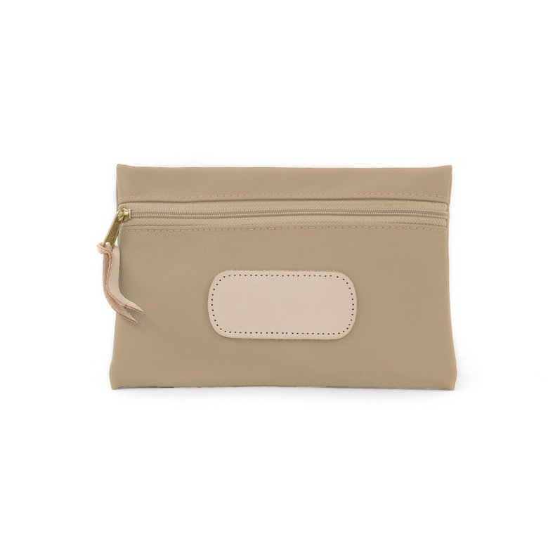 Pouch - Tan Coated Canvas Front Angle in Color 'Tan Coated Canvas'