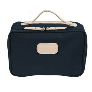 Large Travel Kit - Navy Coated Canvas Front Angle in Color 'Navy Coated Canvas'