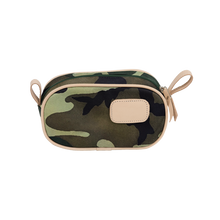 Load image into Gallery viewer, Junior Shave Kit - Classic Camo Coated Canvas Front Angle in Color 'Classic Camo Coated Canvas'