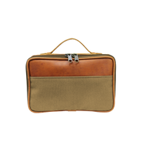 Load image into Gallery viewer, JH Dopp Kit - Khaki Canvas Front Angle in Color 'Khaki Canvas'