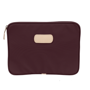 "13"" Computer Case - Burgundy Coated Canvas Front Angle in Color 'Burgundy Coated Canvas'"