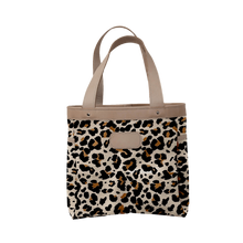 Load image into Gallery viewer, Left Bank - Leopard Coated Canvas Front Angle in Color 'Leopard Coated Canvas'