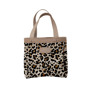 Left Bank - Leopard Coated Canvas Front Angle in Color 'Leopard Coated Canvas'