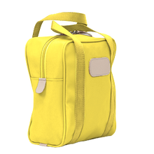 Load image into Gallery viewer, Shag Bag - Lemon Coated Canvas Front Angle in Color 'Lemon Coated Canvas'