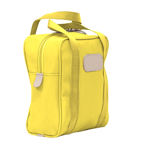 Shag Bag - Lemon Coated Canvas Front Angle in Color 'Lemon Coated Canvas'