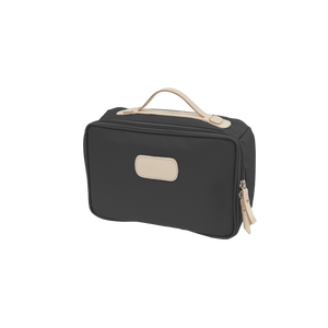 Large Travel Kit - Charcoal Coated Canvas Front Angle in Color 'Charcoal Coated Canvas'