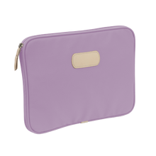 "Load image into Gallery viewer, 13"" Computer Case - Lilac Coated Canvas Front Angle in Color 'Lilac Coated Canvas'"