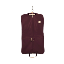 Load image into Gallery viewer, Two-Suiter - Burgundy Coated Canvas Front Angle in Color 'Burgundy Coated Canvas'