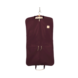 Two-Suiter - Burgundy Coated Canvas Front Angle in Color 'Burgundy Coated Canvas'