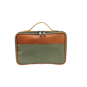 JH Dopp Kit - Canvas Green Front Angle in Color 'Canvas Green'