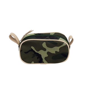 Junior Shave Kit - Classic Camo Coated Canvas Front Angle in Color 'Classic Camo Coated Canvas'