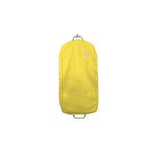 "Load image into Gallery viewer, 50"" Garment Bag - Lemon Coated Canvas Front Angle in Color 'Lemon Coated Canvas'"