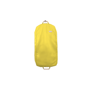 "50"" Garment Bag - Lemon Coated Canvas Front Angle in Color 'Lemon Coated Canvas'"