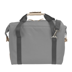 Large Cooler - Slate Coated Canvas Front Angle in Color 'Slate Coated Canvas'
