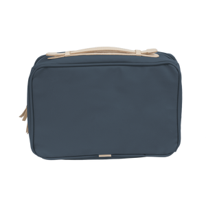 Large Travel Kit - French Blue Coated Canvas Front Angle in Color 'French Blue Coated Canvas'