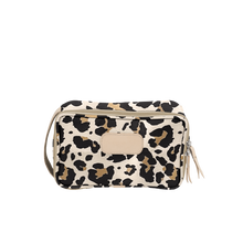 Load image into Gallery viewer, Small Travel Kit - Leopard Coated Canvas Front Angle in Color 'Leopard Coated Canvas'