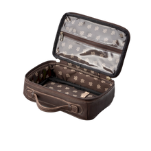 Load image into Gallery viewer, JH Dopp Kit - Bourbon Leather Front Angle in Color 'Bourbon Leather'