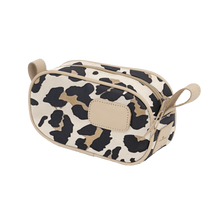 Load image into Gallery viewer, Junior Shave Kit - Leopard Coated Canvas Front Angle in Color 'Leopard Coated Canvas'