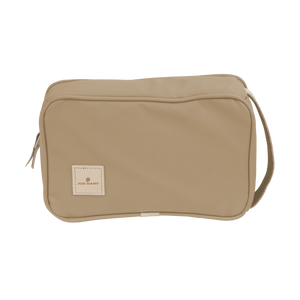 Small Travel Kit - Tan Coated Canvas Front Angle in Color 'Tan Coated Canvas'