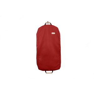 "50"" Garment Bag - Red Coated Canvas Front Angle in Color 'Red Coated Canvas'"