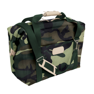 Large Cooler - Classic Camo Coated Canvas Front Angle in Color 'Classic Camo Coated Canvas'
