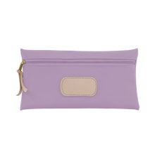 Load image into Gallery viewer, Large Pouch - Lilac Coated Canvas Front Angle in Color 'Lilac Coated Canvas'