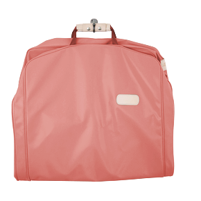 "50"" Garment Bag - Coral Coated Canvas Front Angle in Color 'Coral Coated Canvas'"