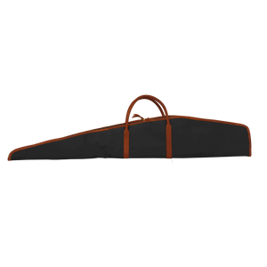 Rifle Cover - Black Coated Canvas Front Angle in Color 'Black Coated Canvas'