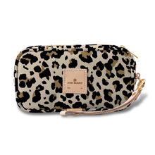 Load image into Gallery viewer, Wristlet - Leopard Coated Canvas Front Angle in Color 'Leopard Coated Canvas'