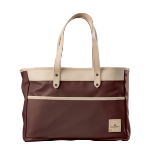 Bebita - Burgundy Coated Canvas Front Angle in Color 'Burgundy Coated Canvas'