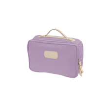 Load image into Gallery viewer, Large Travel Kit - Lilac Coated Canvas Front Angle in Color 'Lilac Coated Canvas'