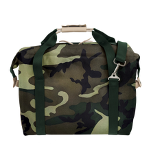 Load image into Gallery viewer, Large Cooler - Classic Camo Coated Canvas Front Angle in Color 'Classic Camo Coated Canvas'
