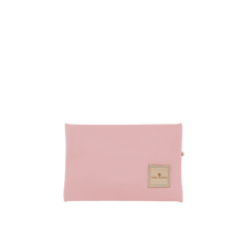 Load image into Gallery viewer, Pouch Back Angle in Color 'Rose Coated Canvas'