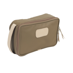 Small Travel Kit - Saddle Coated Canvas Front Angle in Color 'Saddle Coated Canvas'