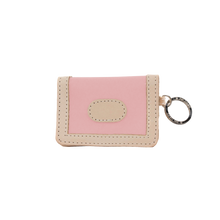Load image into Gallery viewer, ID Wallet - Rose Coated Canvas Front Angle in Color 'Rose Coated Canvas'