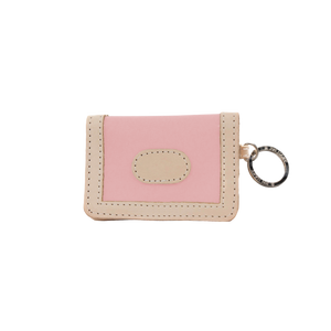 ID Wallet - Rose Coated Canvas Front Angle in Color 'Rose Coated Canvas'