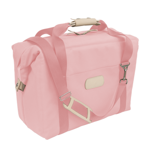 Large Cooler - Rose Coated Canvas Front Angle in Color 'Rose Coated Canvas'