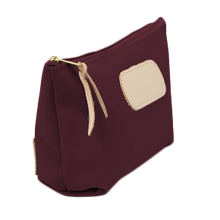 Load image into Gallery viewer, Grande - Burgundy Coated Canvas Front Angle in Color 'Burgundy Coated Canvas'