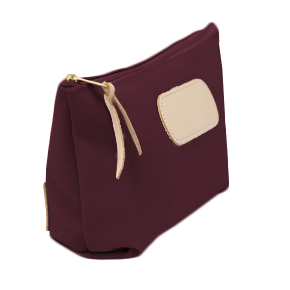 Grande - Burgundy Coated Canvas Front Angle in Color 'Burgundy Coated Canvas'