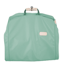 "Load image into Gallery viewer, 50"" Garment Bag - Mint Coated Canvas Front Angle in Color 'Mint Coated Canvas'"