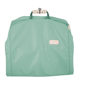 "50"" Garment Bag - Mint Coated Canvas Front Angle in Color 'Mint Coated Canvas'"